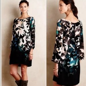 Anthropologie Maeve Shaded Garden Shift Dress